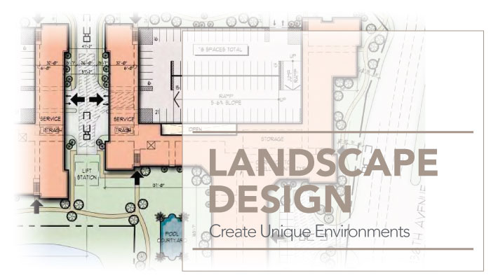 architectural interior design and space planning commercial landscape
